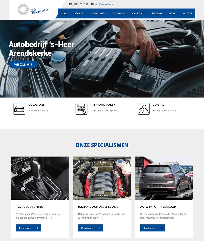 website Autobedrijf 's=Heer Arendskerke