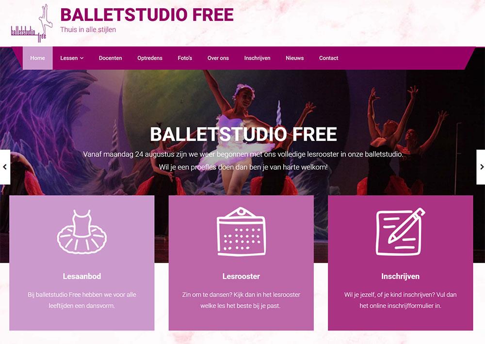 website Balletstudio Free
