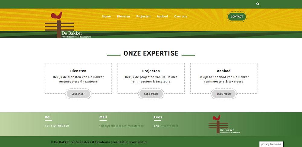 website De Bakker rentmeesters & taxateurs