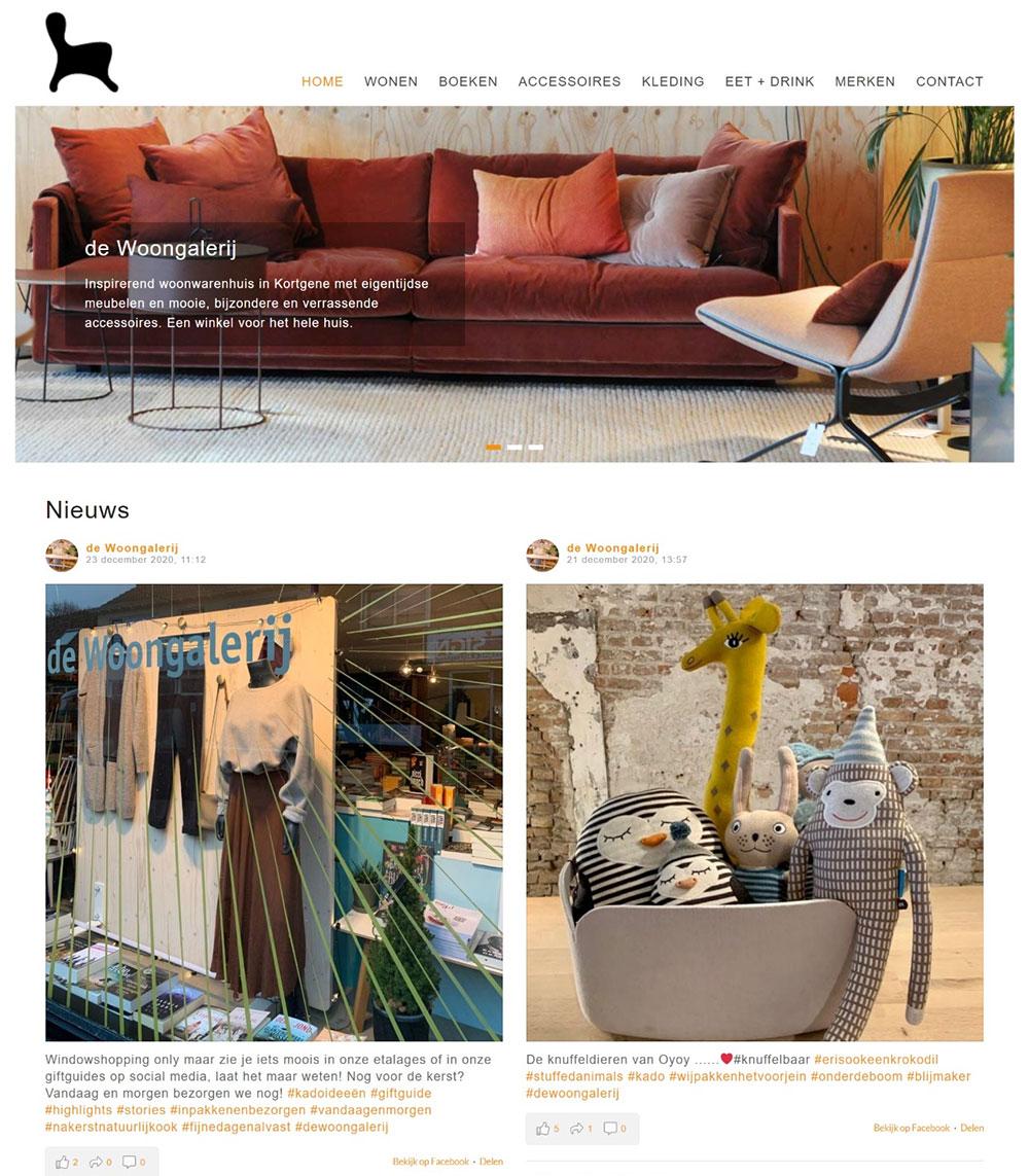 website De Woongalerij