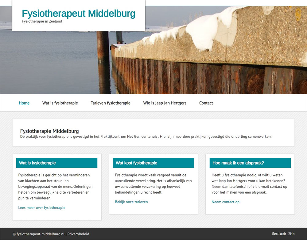 website Fysiotherapeut Middelburg