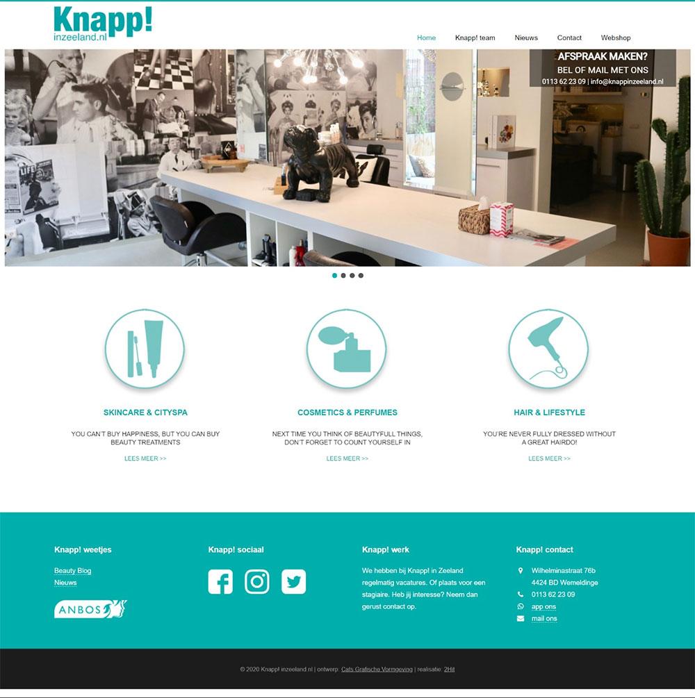 website Knapp